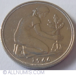 Image #2 of 50 Pfennig 1966 D