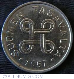 Image #2 of 1 Markka 1957