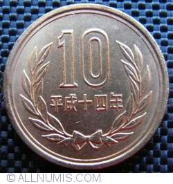 Image #1 of 10 Yen 2002 (year 14 - 十四)
