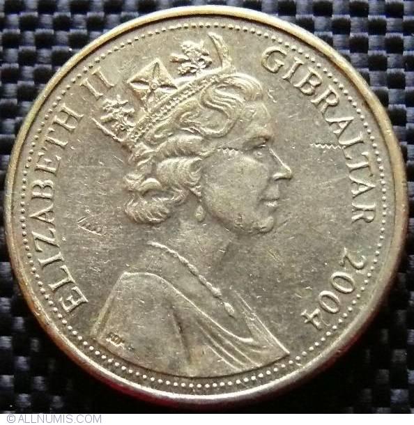 GIBRALTAR COINS UNC 8 PCS SET 1 2 5 10 20 50 Pence 1 2 Pounds 2004-2010 QUENN