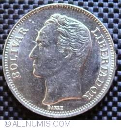 Imaginea #2 a 1 Bolivar 1989 - Varianta - Alta marime a fontului la numele gravorului