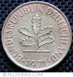Image #2 of 10 Pfennig 1971 J (small J)