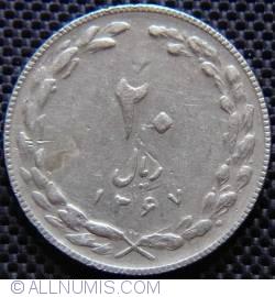 Image #1 of 20 Rials 1988 (SH 1367 - ١٣٦٧)
