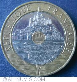 20 Francs 1992 - V in interiorul cercului