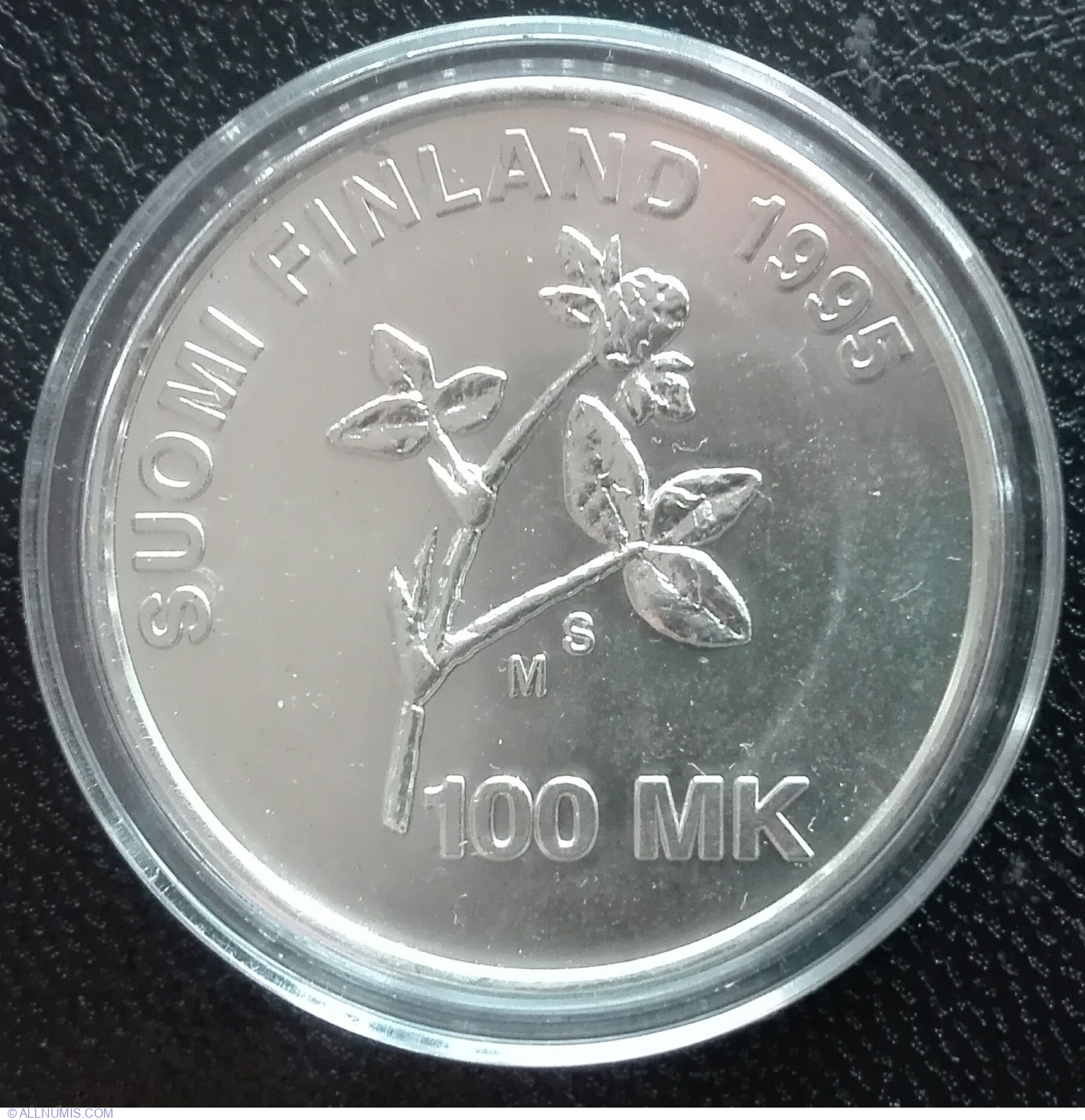 Finland 100 Markkaa 1995 Silver United Nations 50th Anniversary !!!