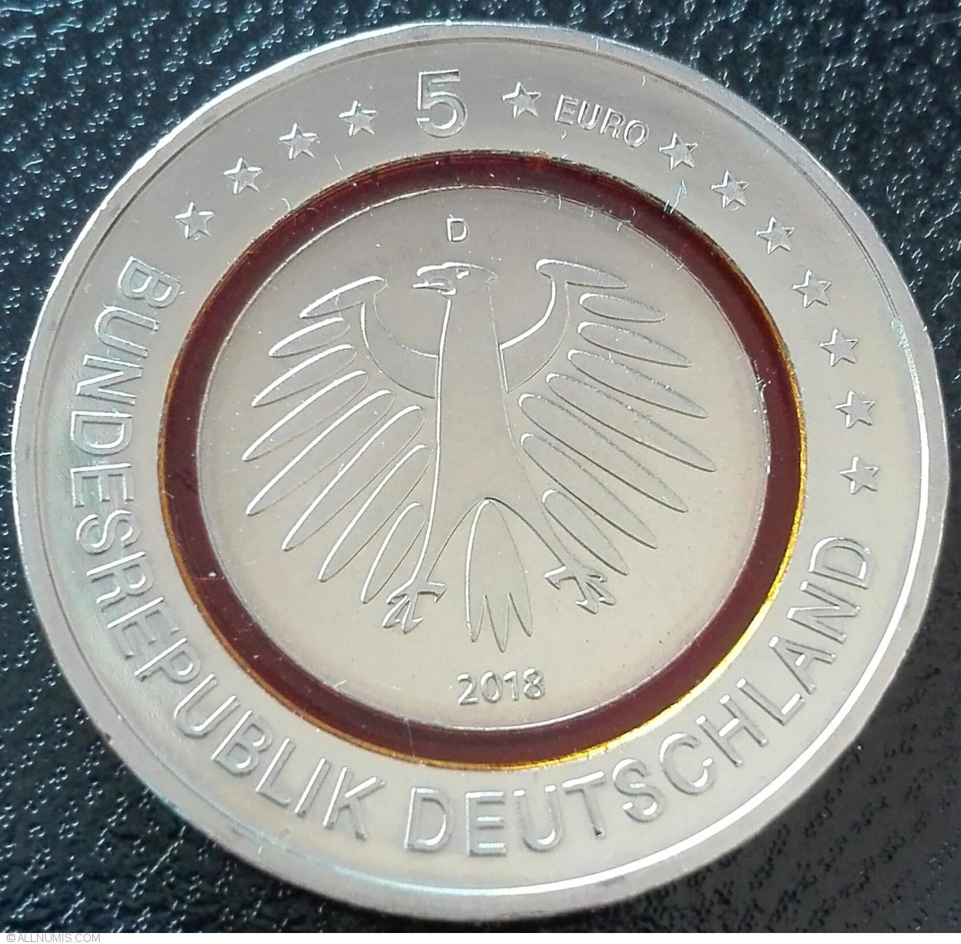 D UNC Subtropical Zone Lemberg-Zp 5 Euro 2018 Germany