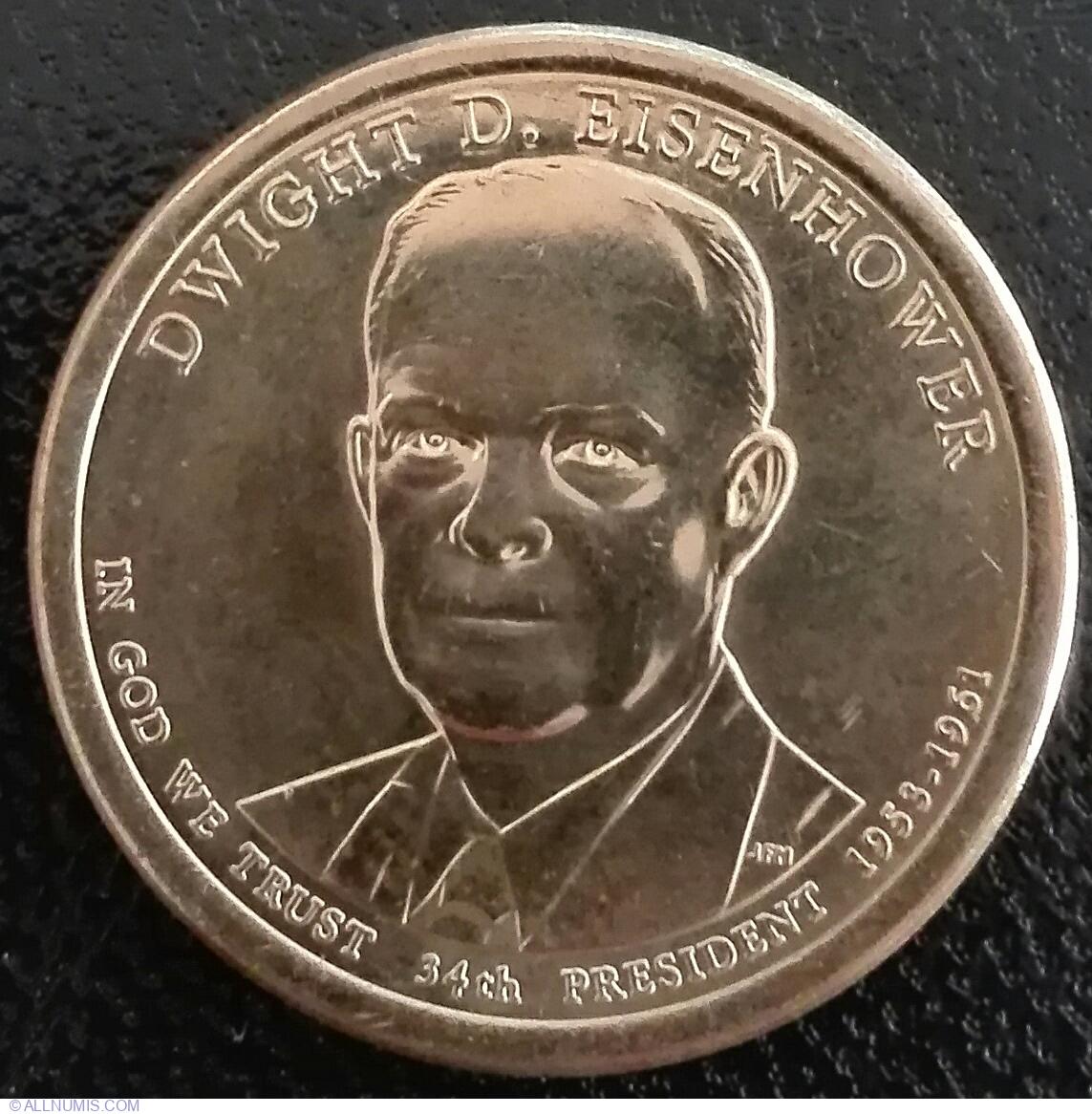 Dwight D 2015 D Eisenhower One Dollar Presidential Coin