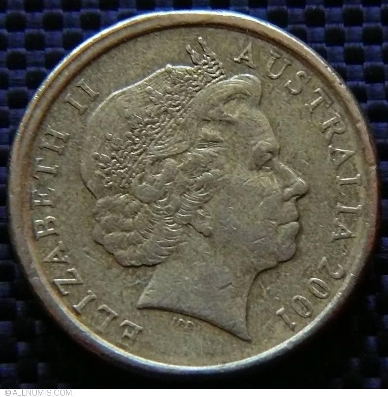 2 Dollars 2001 Elizabeth Ii 1952 Present Australia