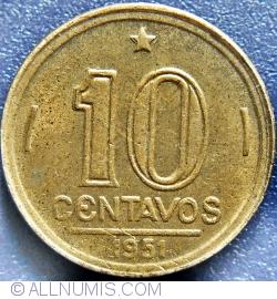 Image #1 of 10 Centavos 1951