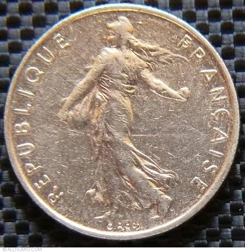 1 2 Franc 1992 Fifth Republic Francs 1986 2001 France Coin 22702