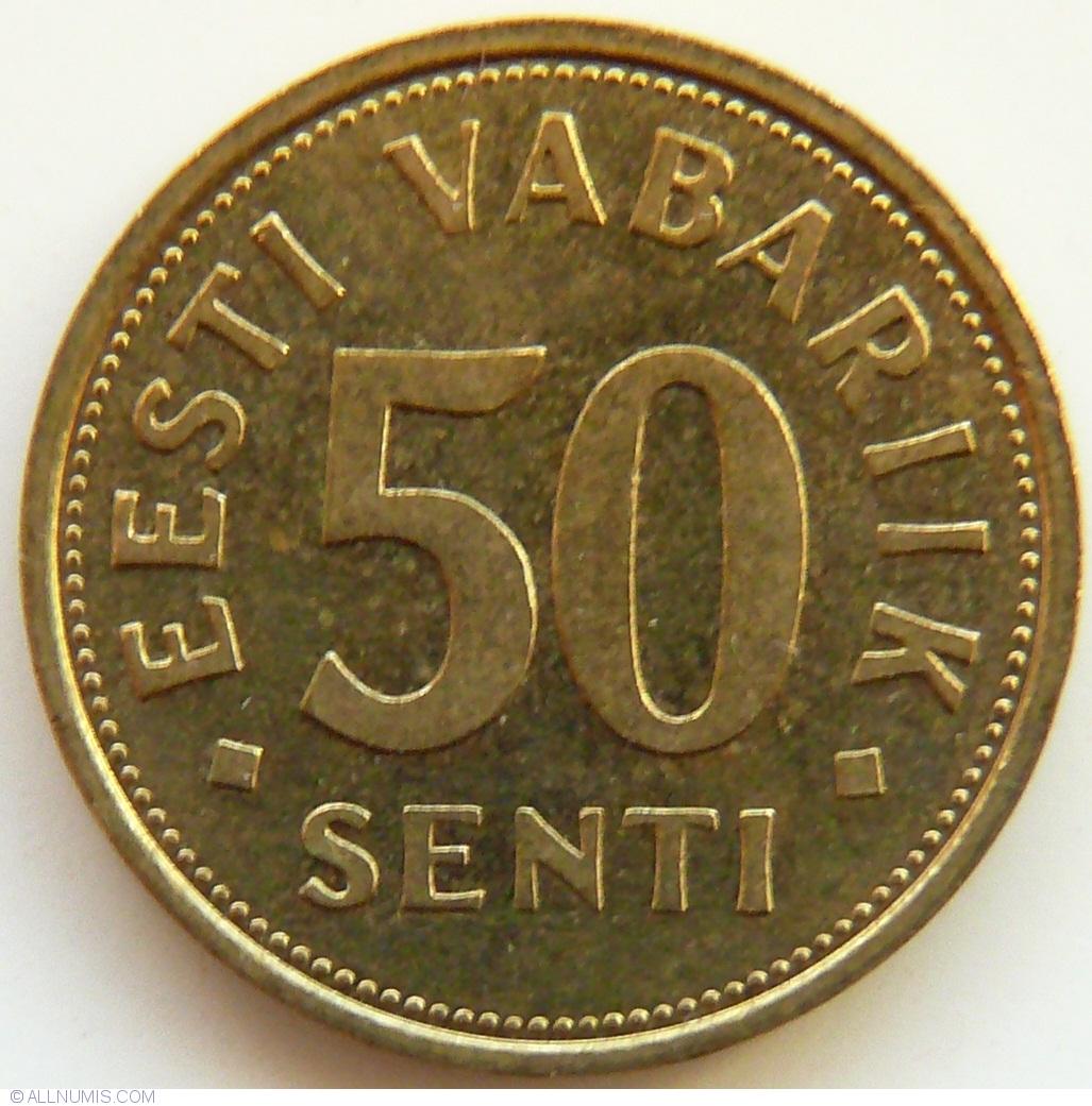 ESTONIA   50 Senti   2004   UNC   *