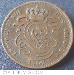 Image #2 of 1 Centime 1907 Belges