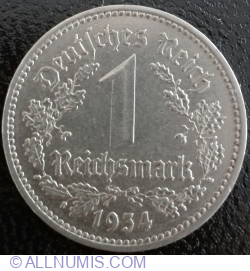 Image #1 of 1 Reichsmark 1934 A
