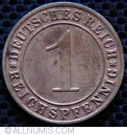 Image #1 of 1 Reichspfennig 1934 D