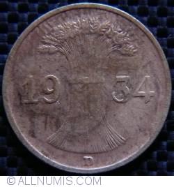 Image #2 of 1 Reichspfennig 1934 D