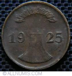 Image #2 of 2 Reichspfennig 1925 D
