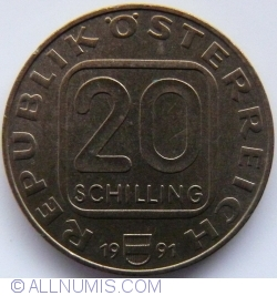 Image #1 of 20 Schilling 1991 - 200th Anniversary - Diocese of Linz