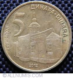 Imaginea #1 a 5 Dinari 2012