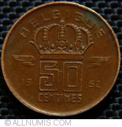 Image #1 of 50 Centimes 1952 Belgique