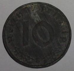 Image #1 of 10 Reichspfennig 1943 B