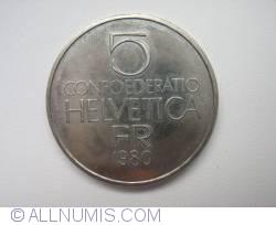 5 Franci 1980