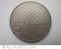 Image #2 of 5 Francs 1988