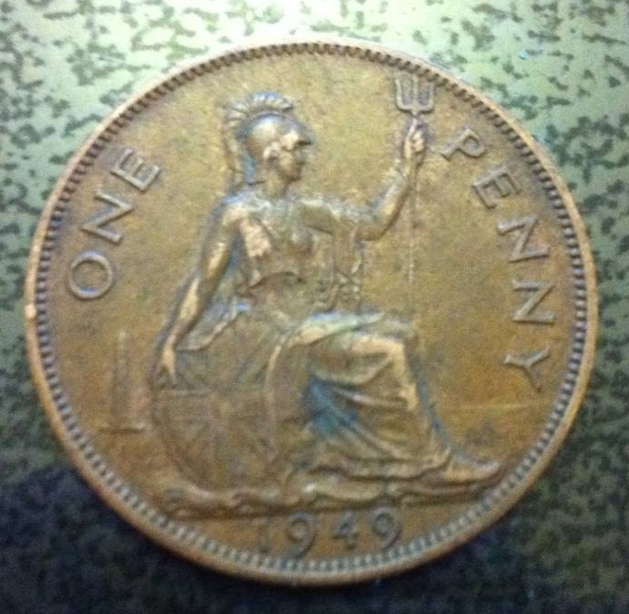 1949 penny coin