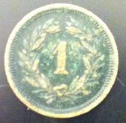 Image #1 of 1 Rappen 1882