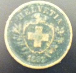Image #2 of 1 Rappen 1882