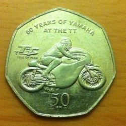 Image #1 of 50 Pence 2011 - 50th Anniversary of Yamaha at the TT