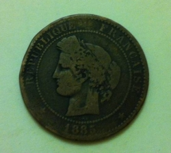 Image #2 of 10 Centimes 1885 A