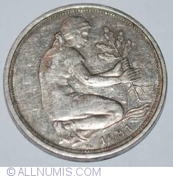 Imaginea #2 a 50 Pfennig 1981 G