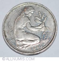 Imaginea #2 a 50 Pfennig 1992 D