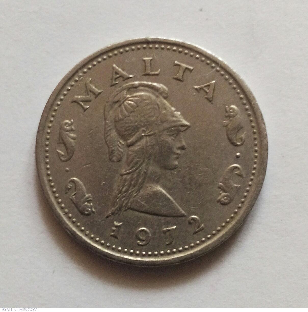 1972 Malta 2 Cents Penthesilea