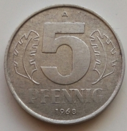 Image #1 of 5 Pfennig 1968 A