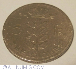 Image #1 of 5 Francs 1961 (BELGIQUE)