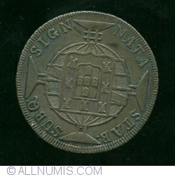 Image #1 of 960 Reis 1819 (on Spanish 8 Reales)