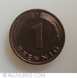 Image #1 of 1 Pfennig 1990 F