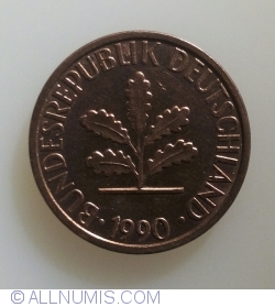 Image #2 of 1 Pfennig 1990 F