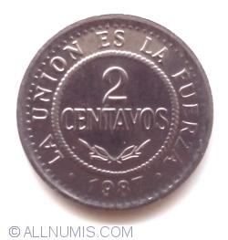 Image #2 of 2 Centavos 1987