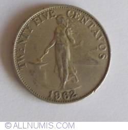 Image #1 of 25 Centavos 1962
