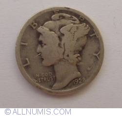 Image #1 of Dime 1928