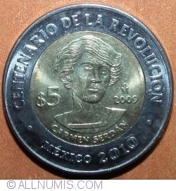 Image #2 of 5 Pesos 2009 - Carmen Serdán
