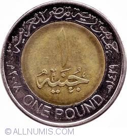 Imaginea #2 a 1 Pound 2008 (AH 1429) - versiunea magnetică