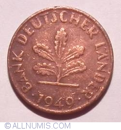 Image #2 of 1 Pfennig 1949 D