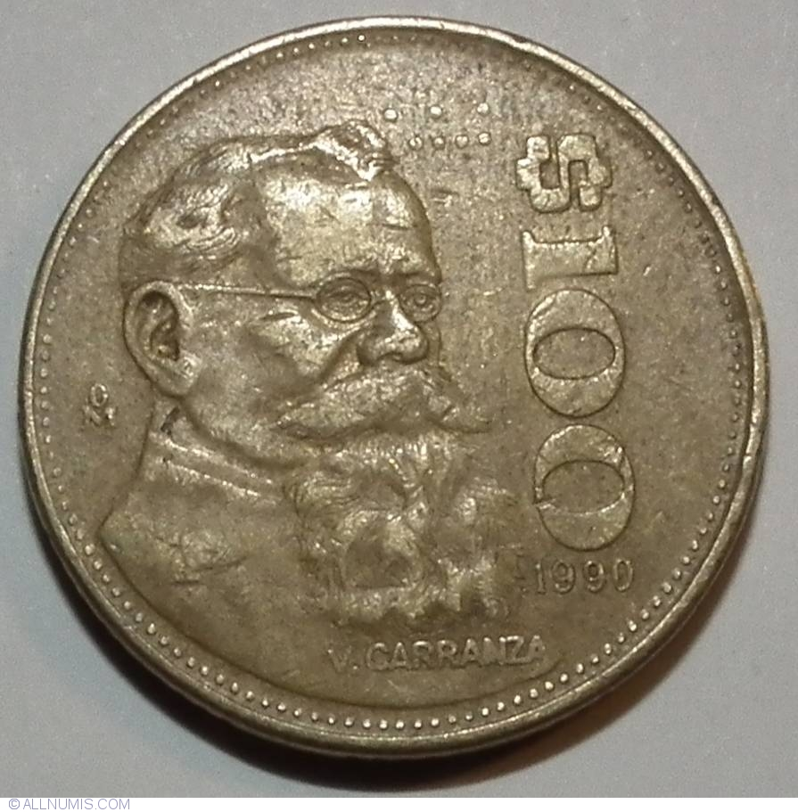 Coin Of 100 Pesos 1990 From Mexico Id 29690