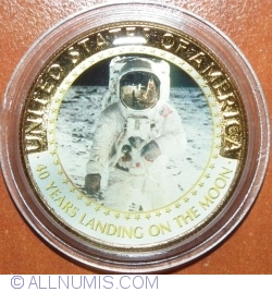 Image #1 of Half Dollar 2009(P) - 40 Years Landing On The Moon