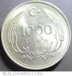 Image #1 of 1000 Lira 1990 - Environmental protection