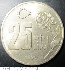Image #1 of 25,000 (25 Bin) Lira 1995 - Environmental protection