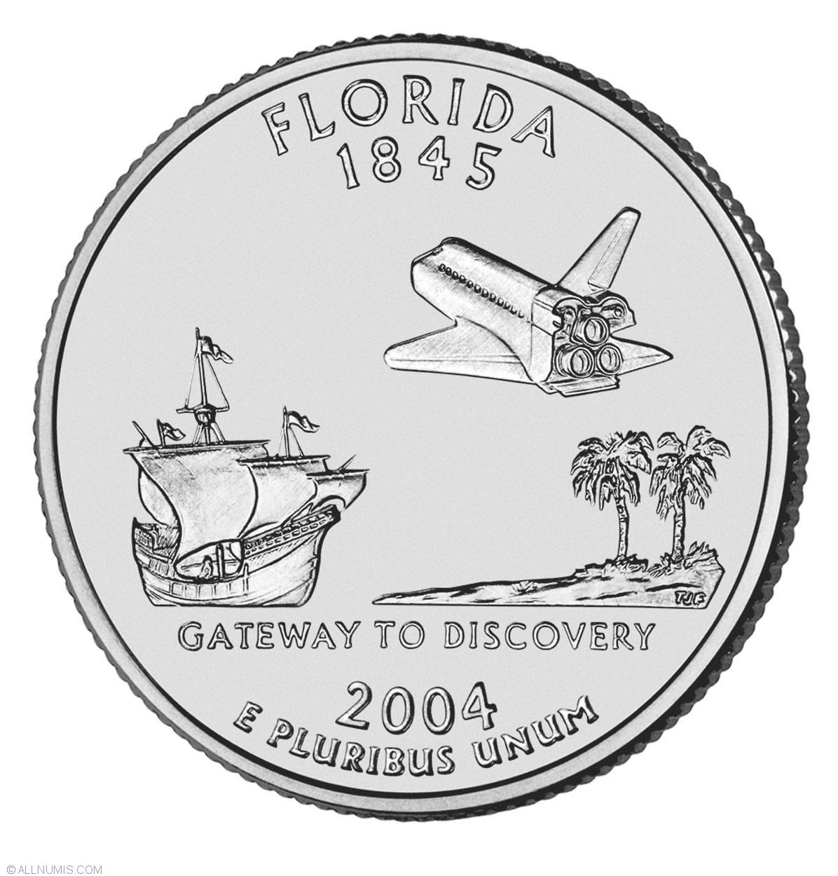 Mint  Box COA Michigan Florida Texas Iowa 2004 State Proof Quarters U.S